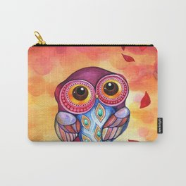 Owl's First Fall Leaf Carry-All Pouch