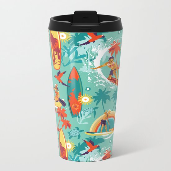 Hawaiian resort Metal Travel Mug