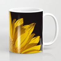 sunflower Mugs featuring sunflower by mark ashkenazi
