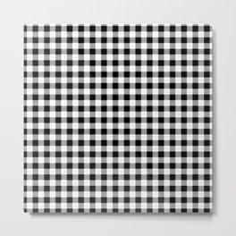 Modern black white picnic 80s print pattern Metal Print