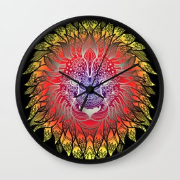 Lion, Leon, Leo, Head Art Wall Clock