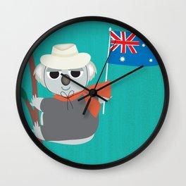 Australia - Skyline Illustration by Loose Petals Wall Clock