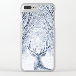 Winter deer Clear iPhone Case