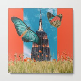 Butterflies in NYC Metal Print