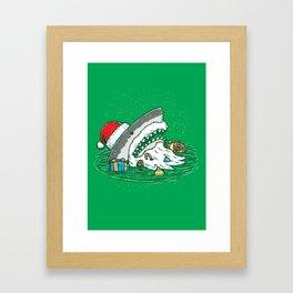 The Santa Shark Framed Art Print