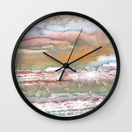 Rosy brown blurred watercolor picture Wall Clock