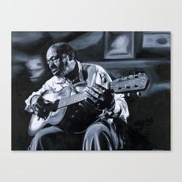 Blues Man With Guitar Canvas Print