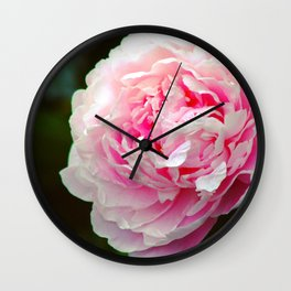 Blush Peony Neon Pink by CheyAnne Sexton Wall Clock