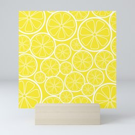 Lemon Slices and Lemonade Mini Art Print