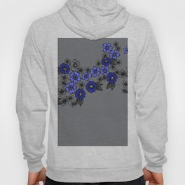 blossom of Flowers blue - dark grey Hoody