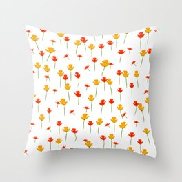 It suddenly blossoms Throw Pillow