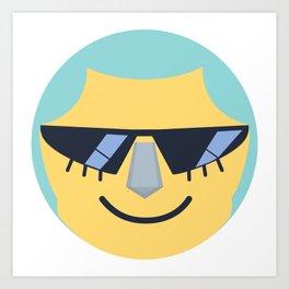 Franky Emoji Design Art Print