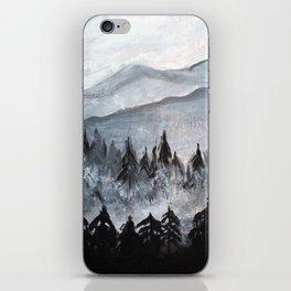 Foggy Mountains iPhone Skin