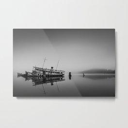 Fog lady Metal Print