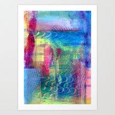 Rainbow smudged Art Print