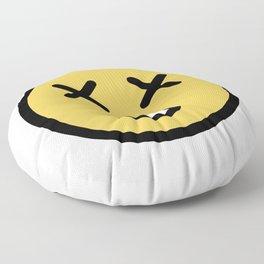 Smiley Face   Dead Open Mouth Floor Pillow