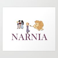 narnia Art Prints featuring Narnia by Little Moon Dance
