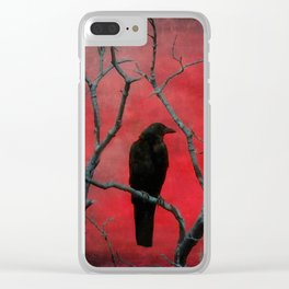 The Color Red Clear iPhone Case