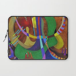 Painting abstract climbing in the mountains Laptop Sleeve