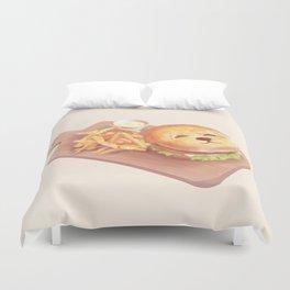 SmileDog Burger Duvet Cover