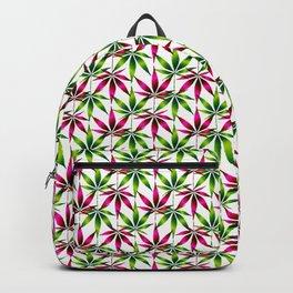 WEED LOVE, PINK GREEN Cannabis Smoke Weed Marijuana Backpack