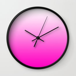 White and Pink Gradient 043 Wall Clock