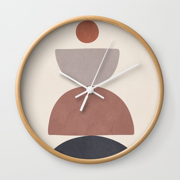 Balancing Elements III Wall Clock