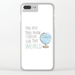 World Crush Clear iPhone Case