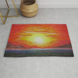 Copper Mountains / Oil Painting Rug