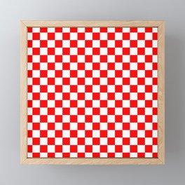 Jumbo Australian Racing Flag Red and White Checked Checkerboard Pattern Framed Mini Art Print