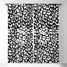 Leopard Black & White Blackout Curtain