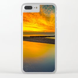 Evening Delight Clear iPhone Case