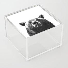Black and white bear portrait Acrylic Box