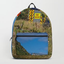 Fire Engine On The Coast Backpack