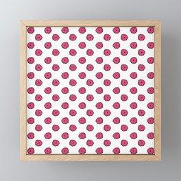 Pink flowers on white Framed Mini Art Print