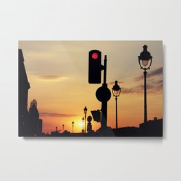 Stop and look at the sunset Metal Print