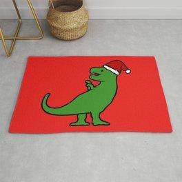 Christmas T-Rex Rug