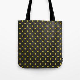 Black and Gold Polka Dots Tote Bag