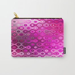 Wobbly Dots in shocking pink Carry-All Pouch