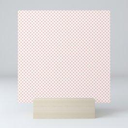 Seashell Pink Polka Dots Mini Art Print