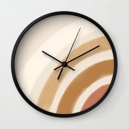 Boho Rainbow Wall Clock
