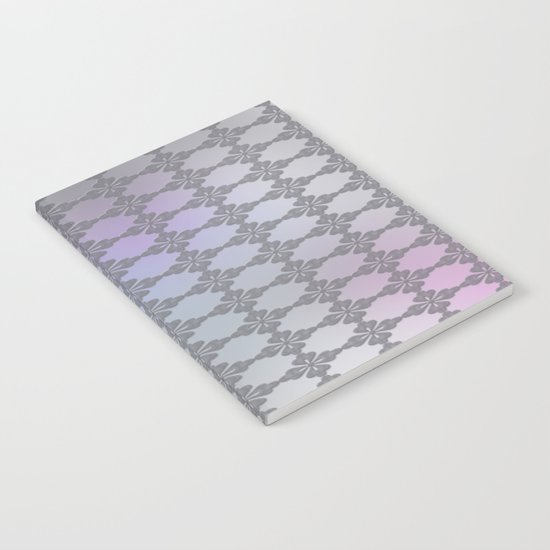 Soft Ornate Grid Pattern Notebook