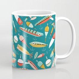Fishing Lures Blue Coffee Mug
