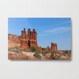 Three Gossips Arches National Park Metal Print