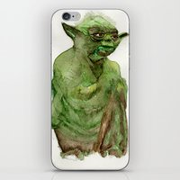 yoda iPhone & iPod Skins featuring Yoda by Catherine Johnson
