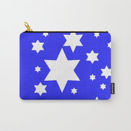 WHITE STARS ON BLUE DESIGN ART Carry-All Pouch