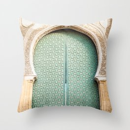 Door of Cathedral Mezquita of Cordoba, Andalucia Throw Pillow