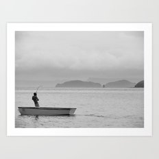 The Fish that Towed the Boat Art Print