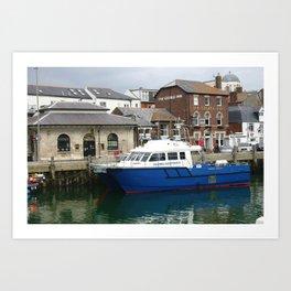 Working Harbour, Weymouth Uk Art Print