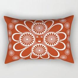 Red Art Nouveau Design Rectangular Pillow